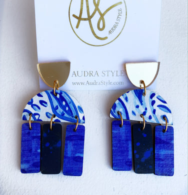 Agatha - Gold Blue White Navy
