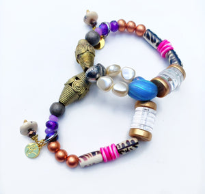Audra Style™  Mixed Media Bead Bracelet