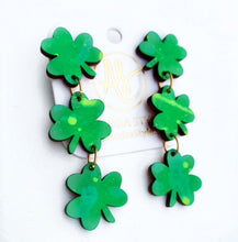 Load image into Gallery viewer, Shamrock Trio Dangles - Green