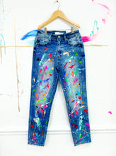 Load image into Gallery viewer, Limited Edition Abstract, Drip and Splatter Painted Jeans