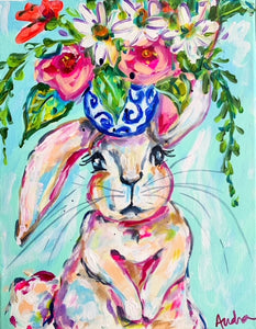 Bunny Notecard Set of 8 - Assorted