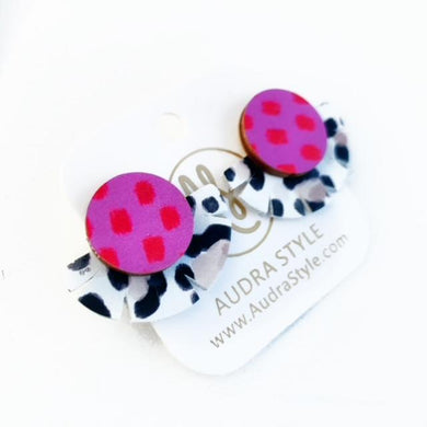 Stud Muffin - Pink Red Dot Taupe Leopard
