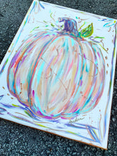 Load image into Gallery viewer, Pumpkin in Pastels Original Painting on Canvas