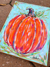Load image into Gallery viewer, Orange Pumpkin Original Painting on Canvas