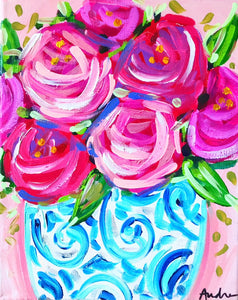 Roses in Ginger Jar Print