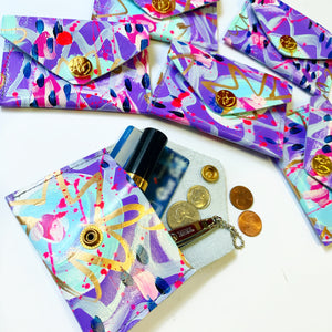 Purple and Pink Coin Purse/Cardholder
