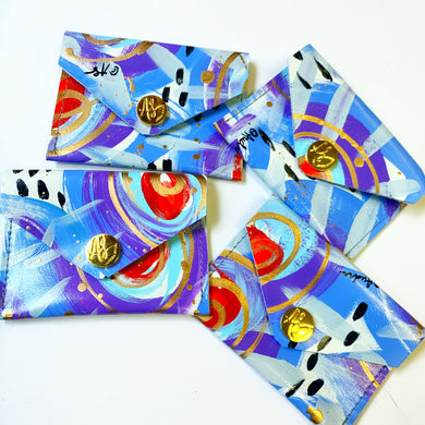 Blue and Red Coin Purse/Cardholder