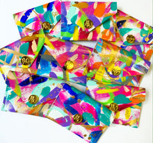 Load image into Gallery viewer, Rainbow Abstract Coin Purse/Cardholder