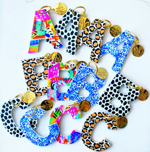 Initial Keychains -Leopard