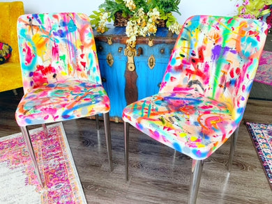 Abstract Painted Chairs - Single or Set