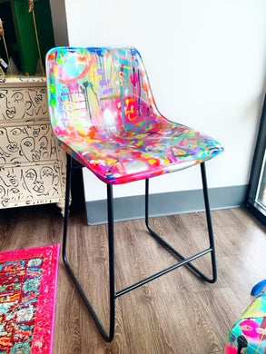 Abstract Painted Chair