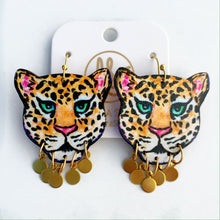 Load image into Gallery viewer, Leopard - Brass Dangles