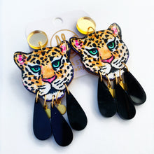 Load image into Gallery viewer, Leopard - Black Dangles