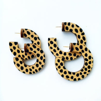 Cheetah Dot Hoop
