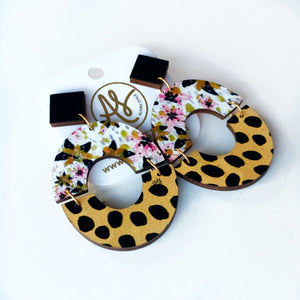 Amanda - Black Dijon Floral Cheetah Dot
