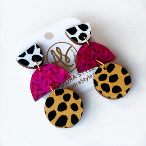 Ruby - Black Dot Magenta Twig Cheetah Dot
