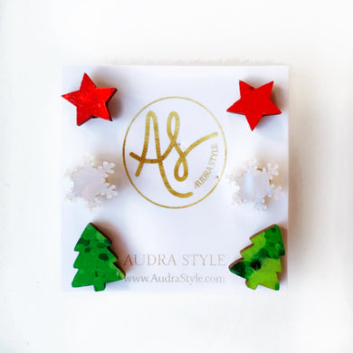 Christmas Stud Set