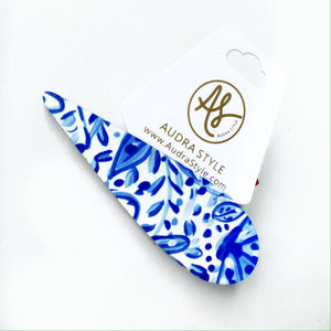 Barrette - Blue and White