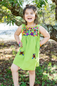 Kids Lime Jardinita Dress