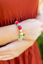 Load image into Gallery viewer, Audra Style™ Aqua Lime Fuchsia Abstract Stacking Bracelet