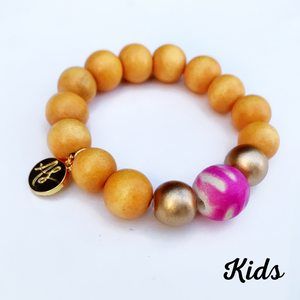 Kids - Audra Style™ Stacking Bracelet Mustard Abstract