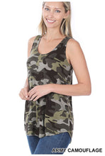 Load image into Gallery viewer, Camouflage Print Tank Top