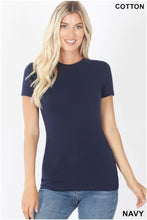 Load image into Gallery viewer, Basic Round Neck Tee