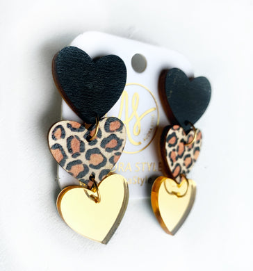 Sweethearts - Black Leopard Gold Mirror