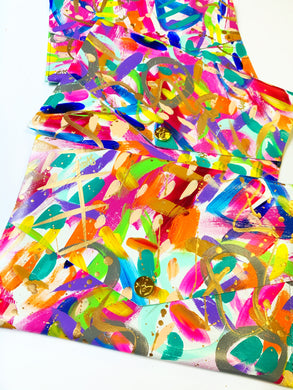 Rainbow Abstract Clutch