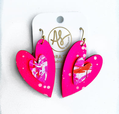 Cherish Heart - Neon Pink Abstract