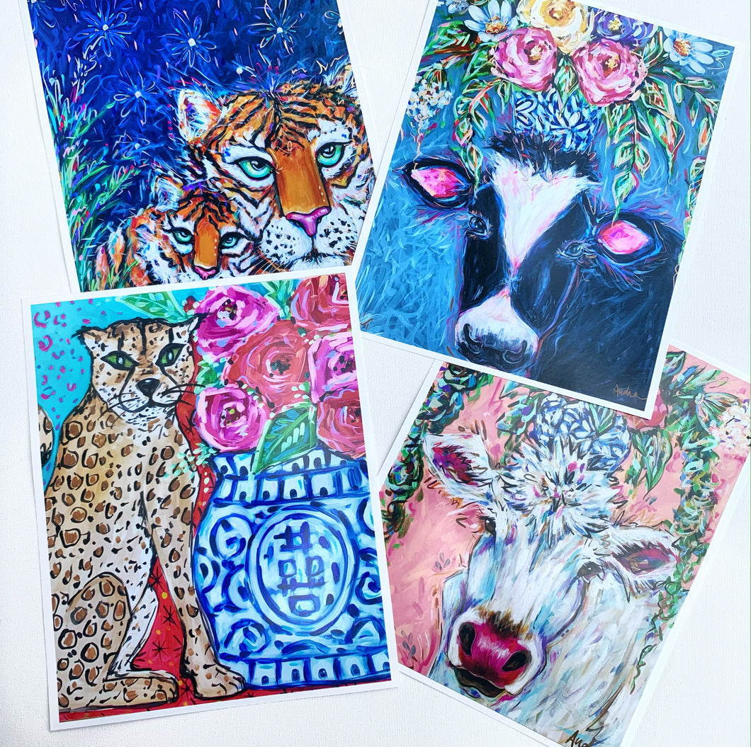 Notecard Set of 6 - Animals