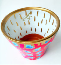 Load image into Gallery viewer, Pink Blue Leopard Planter - Medium