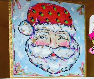 "Santa Reproduction on 6""x6"" Gallery Wrapped Canvas"