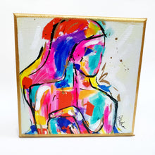 "Load image into Gallery viewer, From Where I Stand Figure on 6""x6"" Gallery Wrapped Canvas"