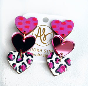 Sweethearts - Pink Red Dot Mirror Cheetah Party