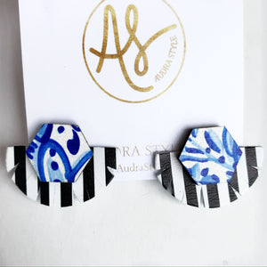 Stud Muffin - Blue White Black White Stripe