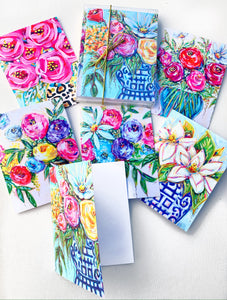 Notecard Set of 6 - Bouquets