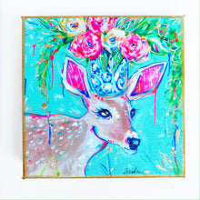 "Load image into Gallery viewer, Deer on 6""x6"" Gallery Wrapped Canvas"