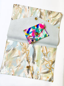 Grey Abstract Clutch