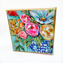"Load image into Gallery viewer, Floral in Ginger Jar on 6""x6"" Gallery Wrapped Canvas"