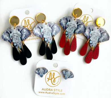Elephant - Dangles and Studs