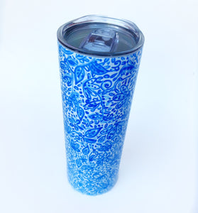 Blue and White Tumbler Insulated Mug