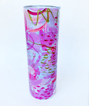 Load image into Gallery viewer, Pink Abstract Tumbler Insulated Mug