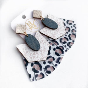 Hazel - Grey Wood Taupe Leopard
