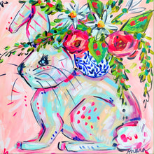 Load image into Gallery viewer, Walter - 12x12 Original Bunny on Canvas