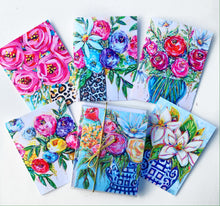 Load image into Gallery viewer, Notecard Set of 6 - Bouquets