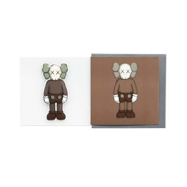KAWS x NGV PUFFY STICKER & BLANK CARD [ COMPANION - Brown ]