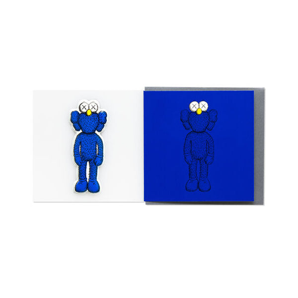 KAWS x NGV PUFFY STICKER & BLANK CARD [ BFF - Blue ]