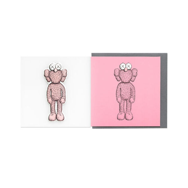 KAWS x NGV PUFFY STICKER & BLANK CARD [ BFF - Pink ]