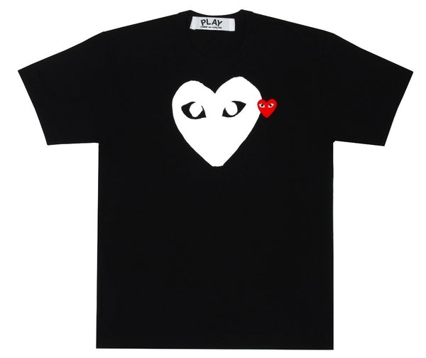 COMME des GARCONS Play Red Play T-Shirt (Black/White) ( Men )